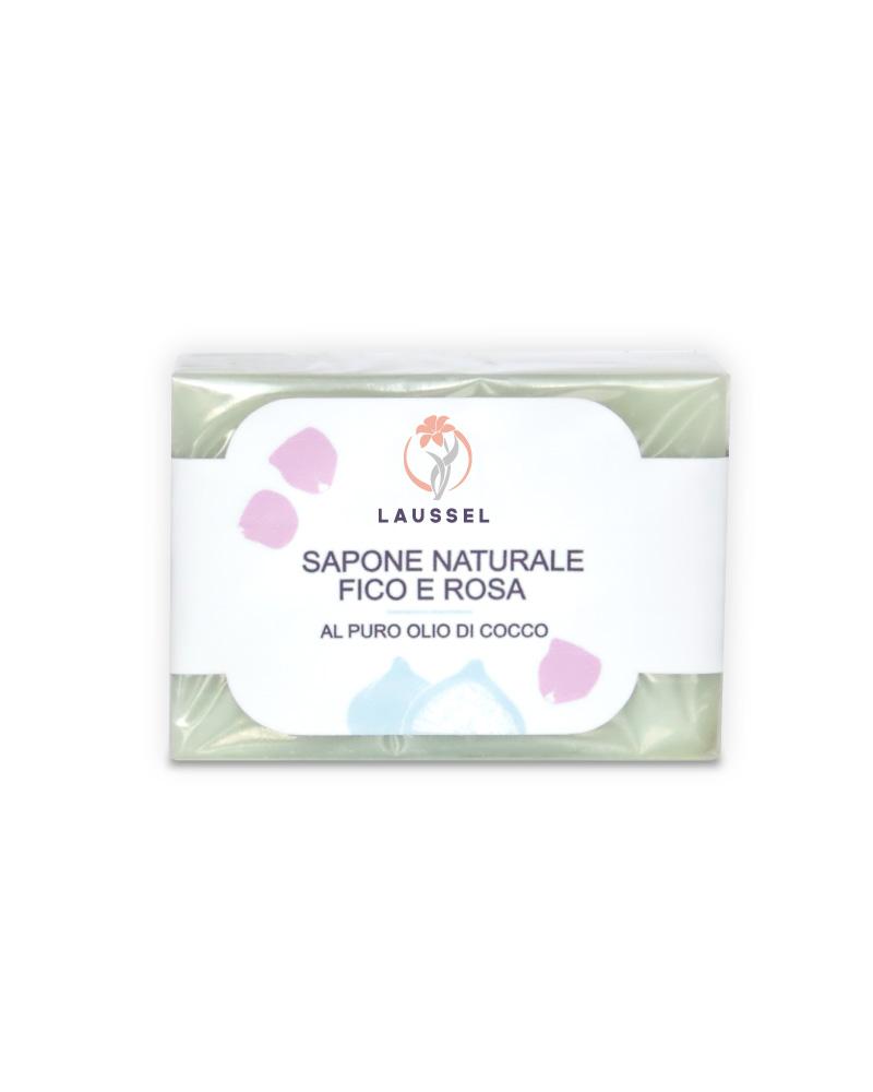 Sapone Naturale Fico e Rosa - Laussel